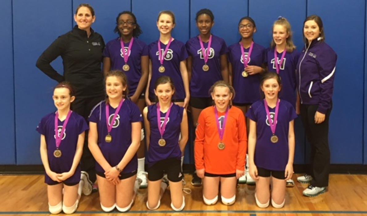 CLUB 43 Volleyball - U12P 2nd Place